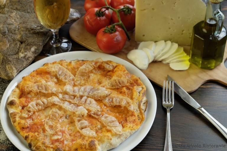 ArVolo Pizza rossa Amatriciana