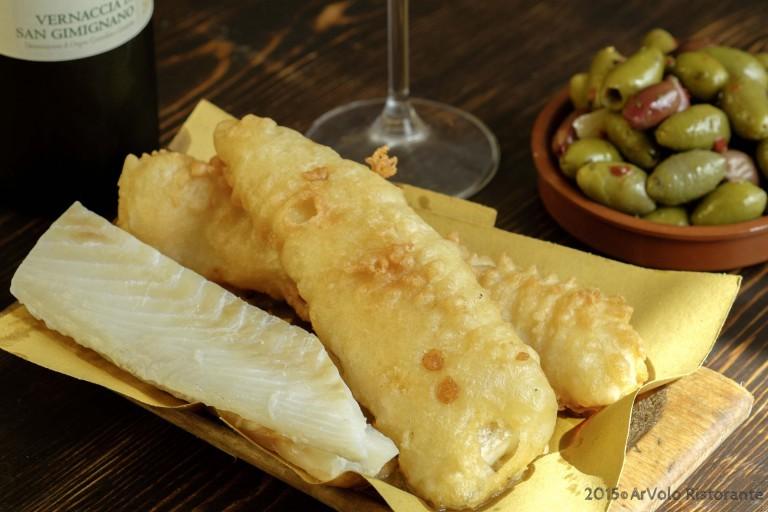 ArVolo Filettone di baccalà in pastella