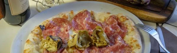 Pinsa Sbriciolona toscana e Carciofini arrosto sott'olio artigianali