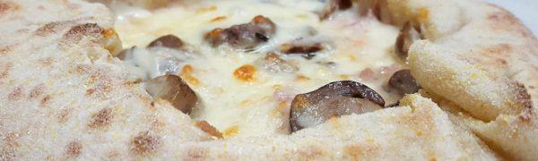 Cestino provola affumicata, salsiccia e funghi porcini