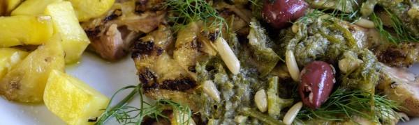 Tagliata di pollo in salsa al finocchietto selvatico