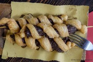 ArVolo Tris di spiedini di pannicolo di Chianina avvolti da pasta fritta