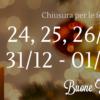 Chiusura per le Festività Natalizie 2017