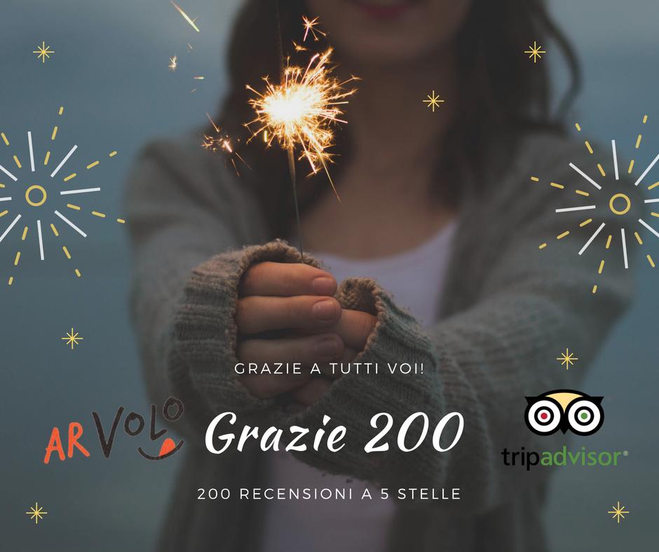 200 recensioni eccellenti Tripadvisor