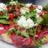 Pizza con Carne Salada, fior di latte, rucola, pomodoro fresco