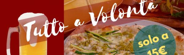 Pinsa & Pizza Day – Tutto a Volontà (23 gennaio)